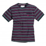 Boom Stripe T Shirt Navy