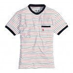Boom Stripe T Shirt White