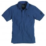 Canvas Collar Polo Han Blue