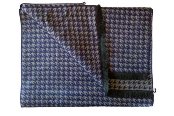 Blue Houndstooth Bamboo Scarf