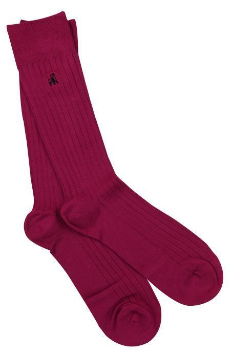 Cerise Bamboo Socks