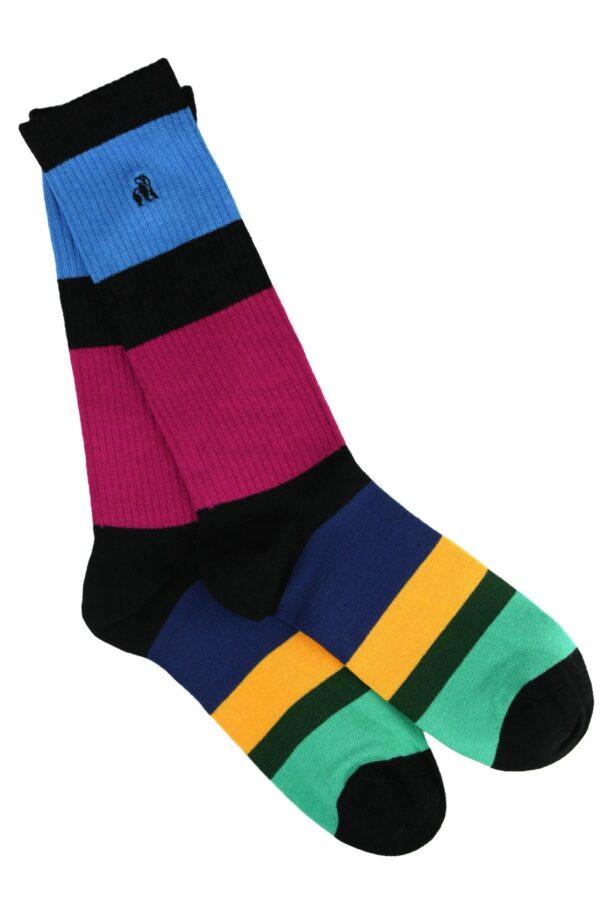Rugby Stripe Bamboo Socks